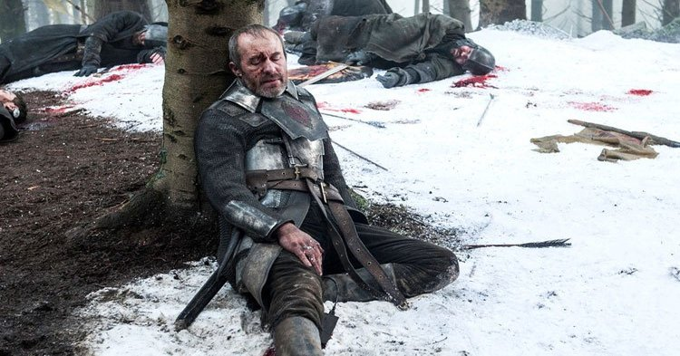Stannis just needs to recharge for a couple of hours. Credit: HBO
