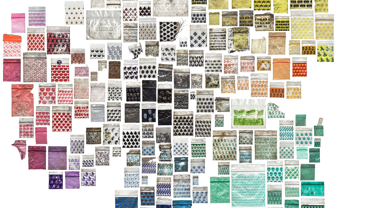 This Guy Has Collected Nearly 9,000 Drug Baggies And Has Turned Them Into Art