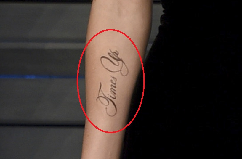 Emma Watson's new 'Times Up' tattoo has a typo in it