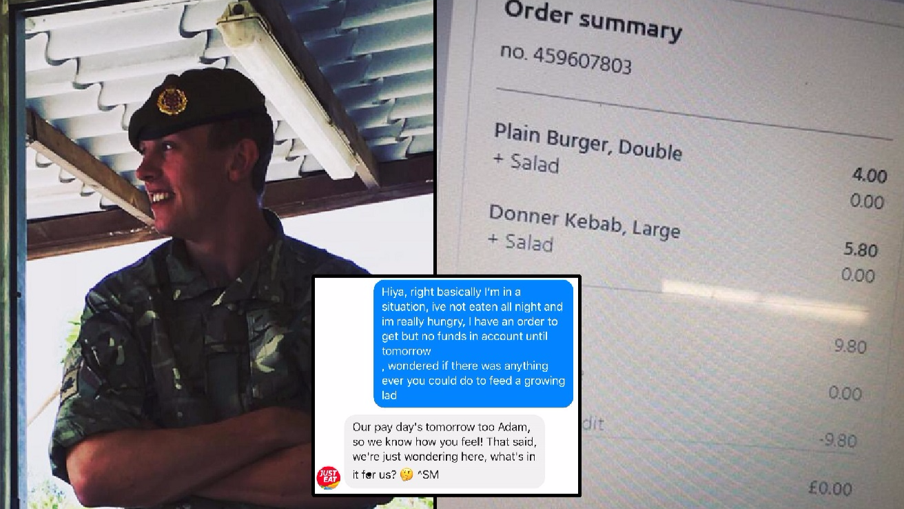 Skint LAD Messages Just Eat For Food And They Help Him Out In Amazing Way