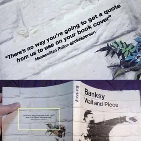 Classic Banksy.