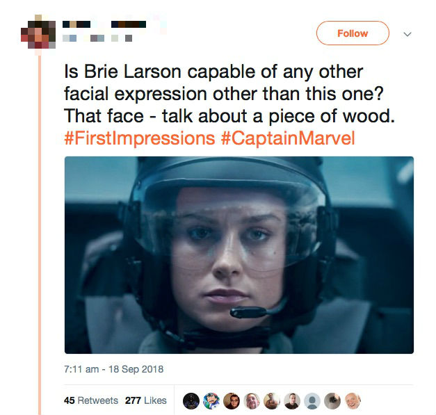 Brie Larson clapped back at 'Captain Marvel' haters in the best way