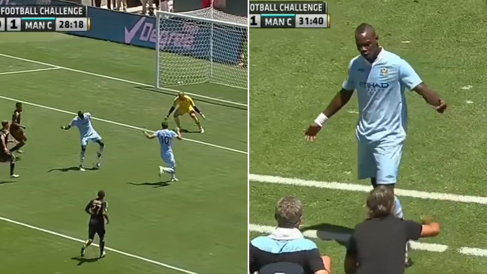 When Mario Balotelli Got Dragged Off For Failed Trick Shot