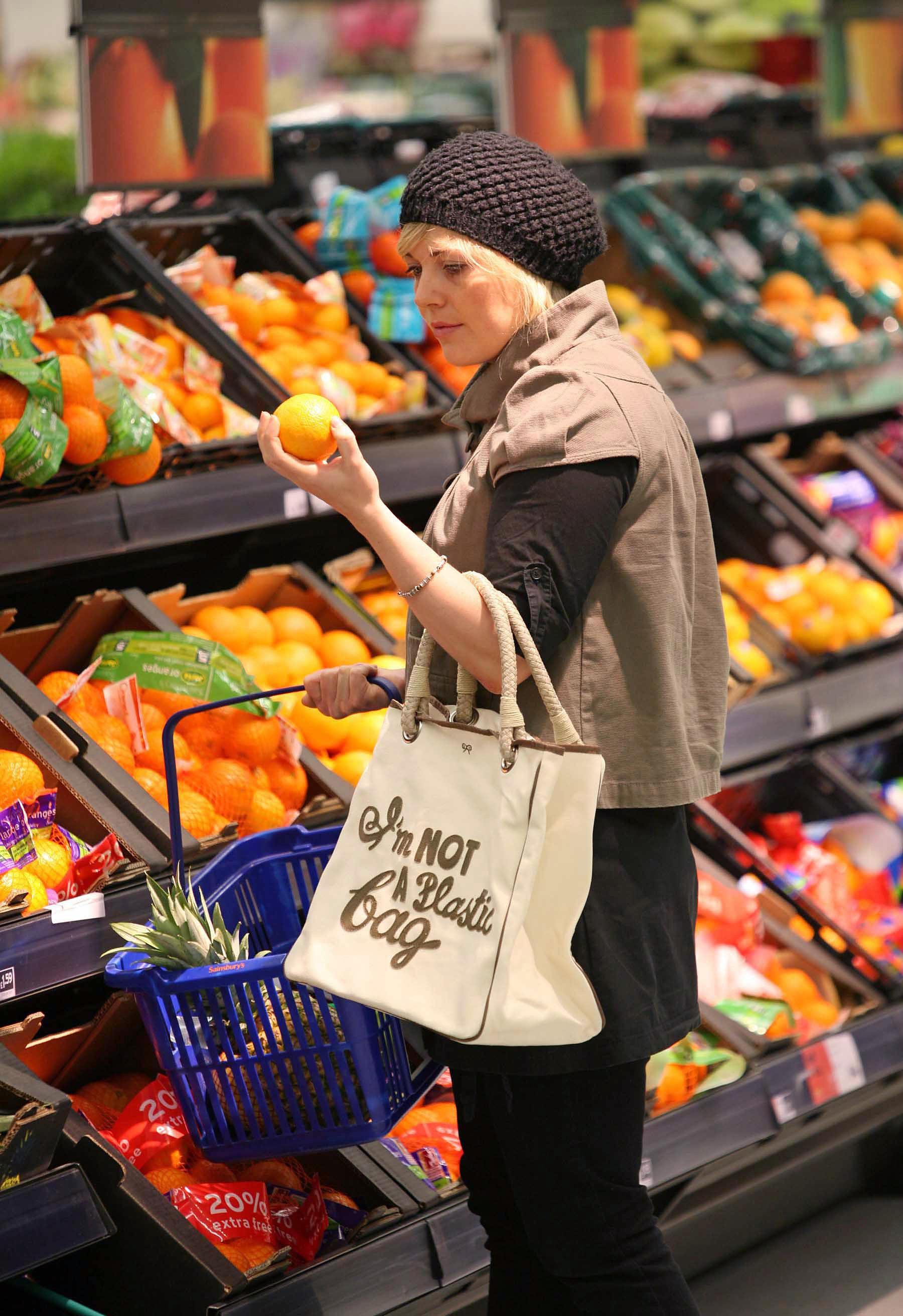 Customers will be able to purchase reusable bags made from recycled materials. Credit: PA