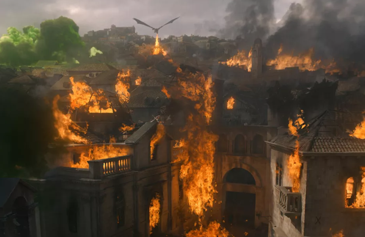King's Landing had a bit of a scorching in the last episode of Game of Thrones. Credit: HBO