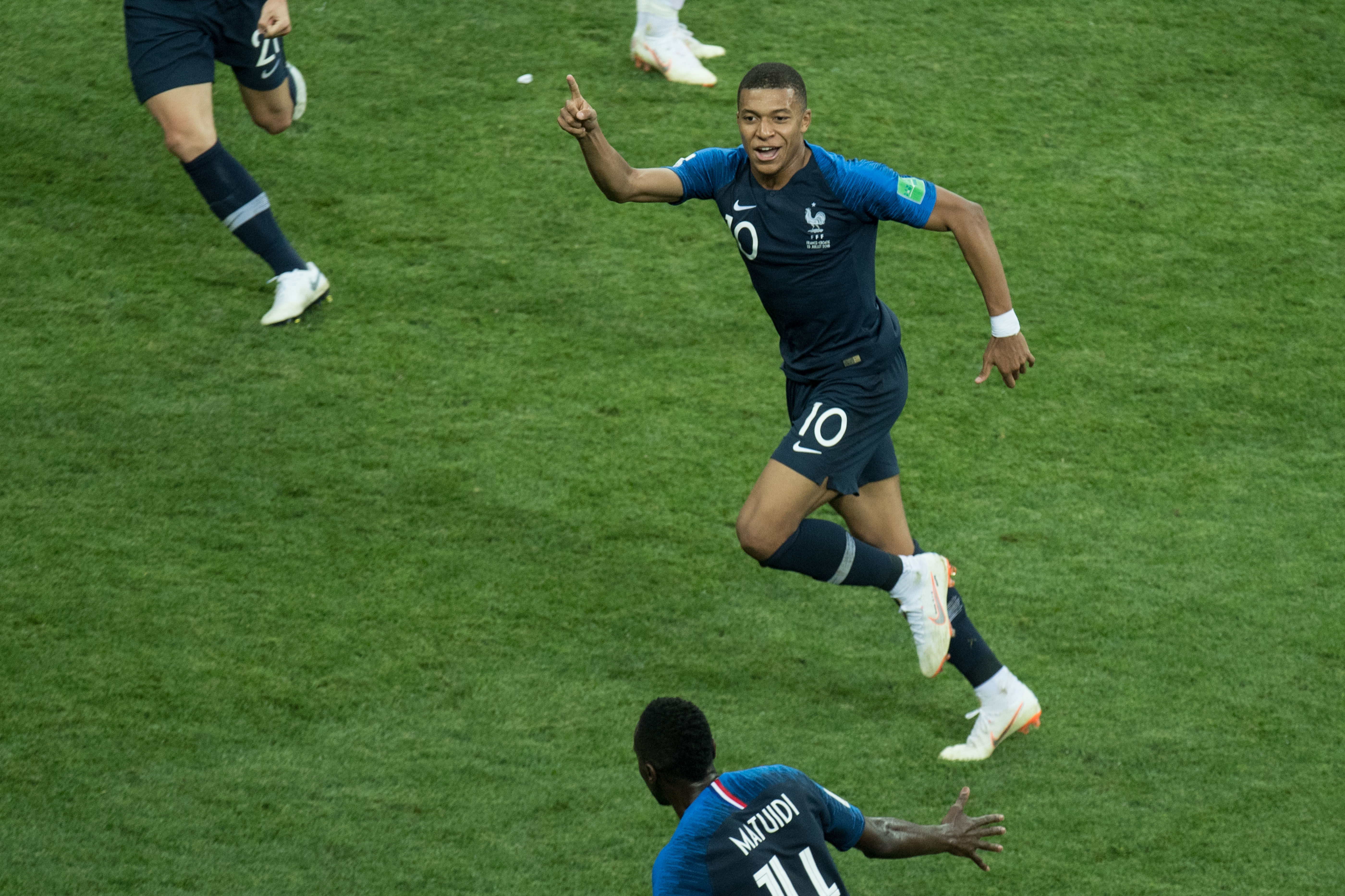 Mbappe has become one of the world's best, scoring in the World Cup final. Image: PA Images