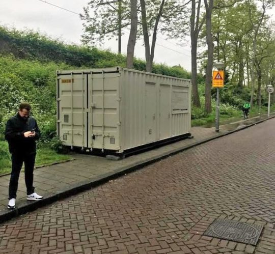 Ben paid £100 for the roadside shipping container. Credit: Ben Speller
