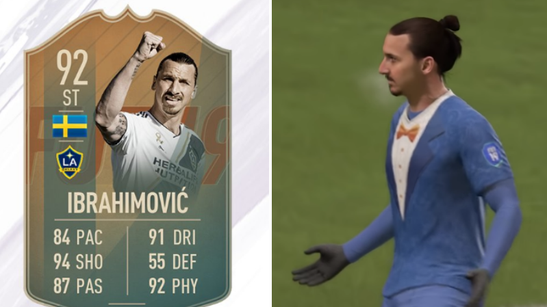 Zlatan Ibrahimovic's 92-Rated FIFA 19 Flashback Card Is A Beauty
