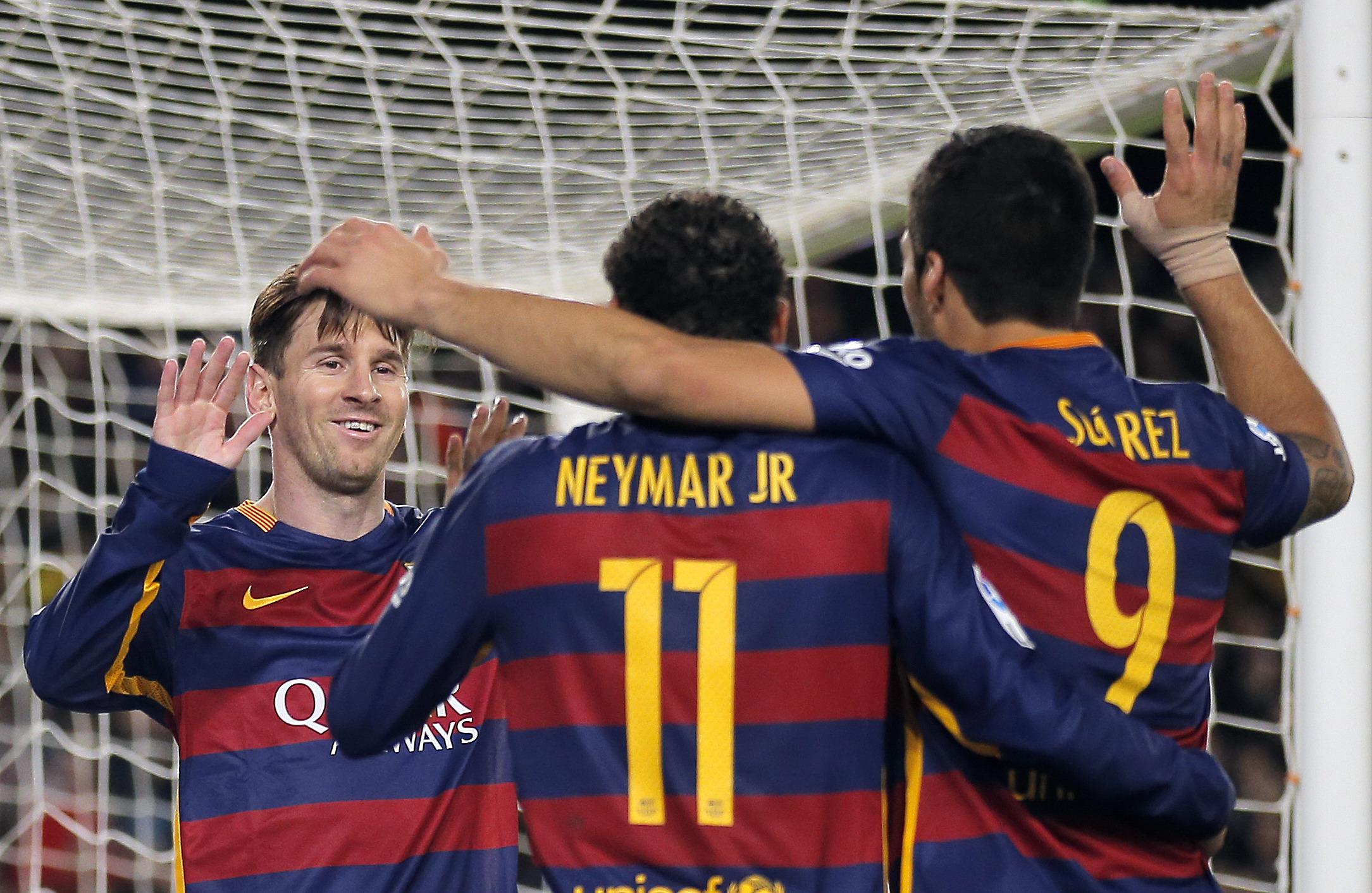 Lionel Messi, Luis Suarez, Neymar