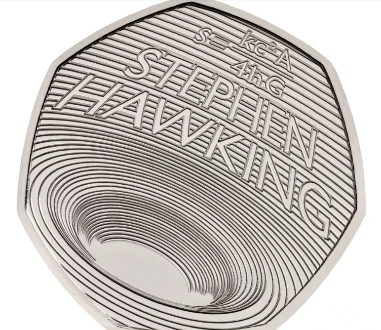 The new coin commemorates the late physicist who was known for his pioneering work in black hole theory. Credit: PA