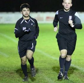 Ali Perros (left) took up refereeing to support himself at university