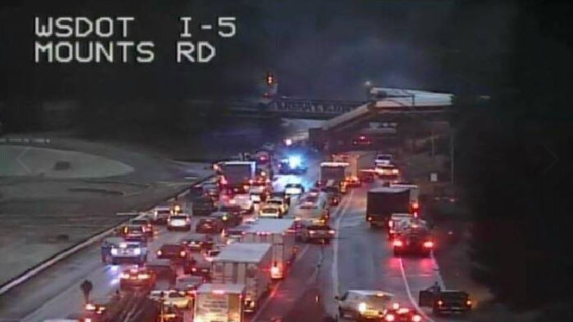 Train Derails Onto Busy Highway In Washington State