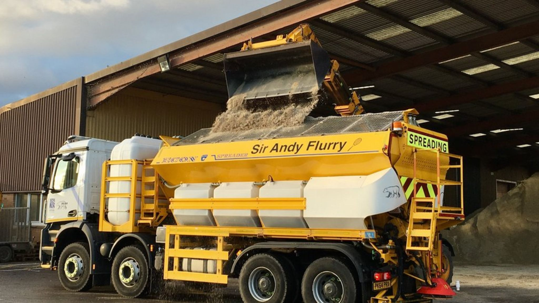 Scotland's punny road gritters from Sir Andy Flurry to Sir Salter Scott