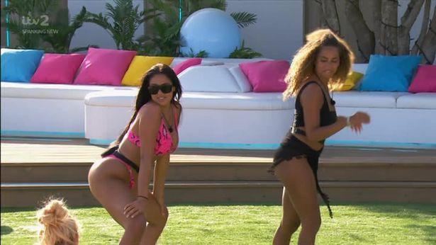 Anna and Amber Twerking On Love Island. Credit: ITV