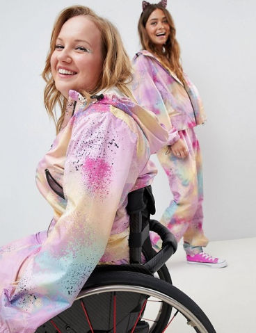 ASOS also featured a model using a wheelchair earlier this year. (Credit: ASOS)