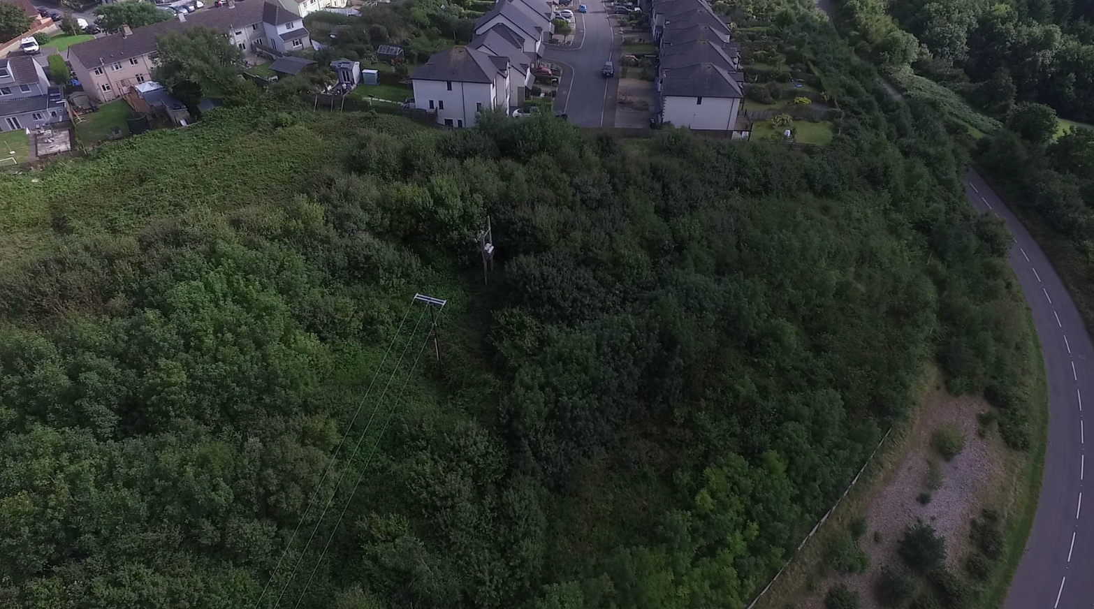 Residents have said they used to enjoy the woodland area, which several houses backed onto. Credit: SWNS