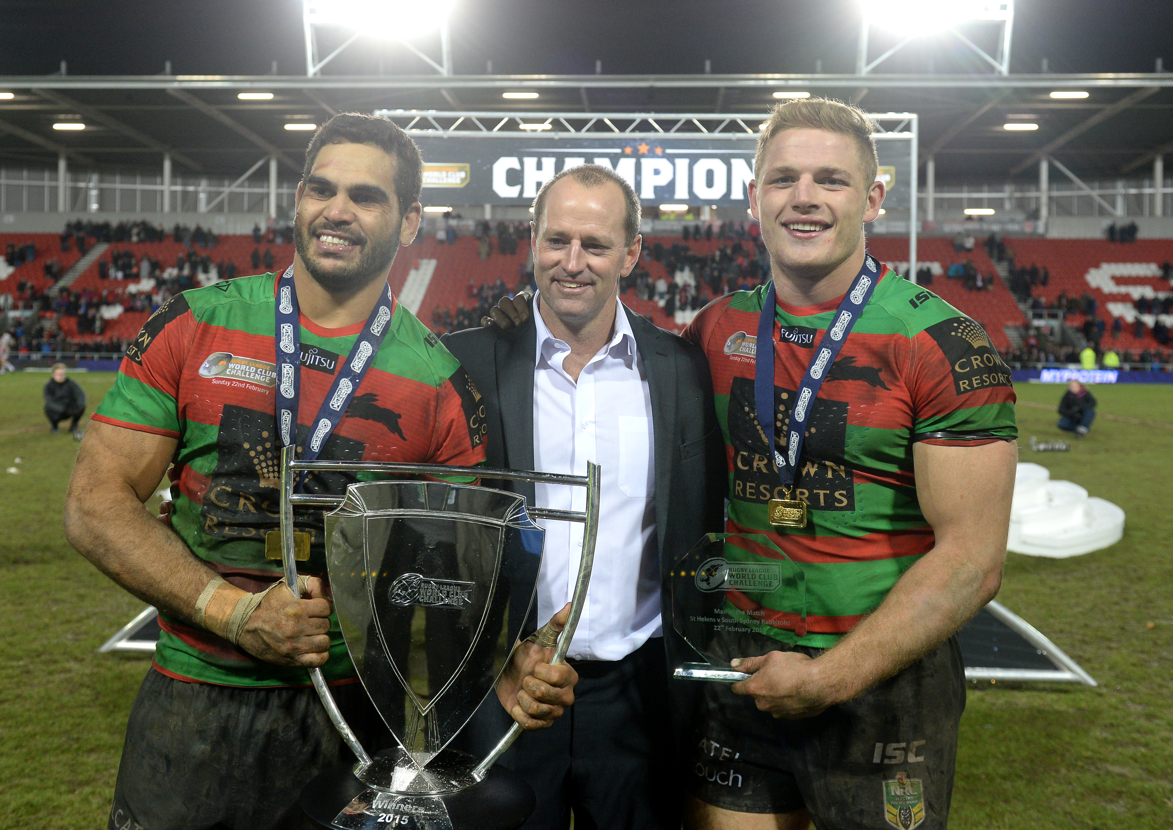 Inglis in 2015 after winning the World Club Series. Credit: PA