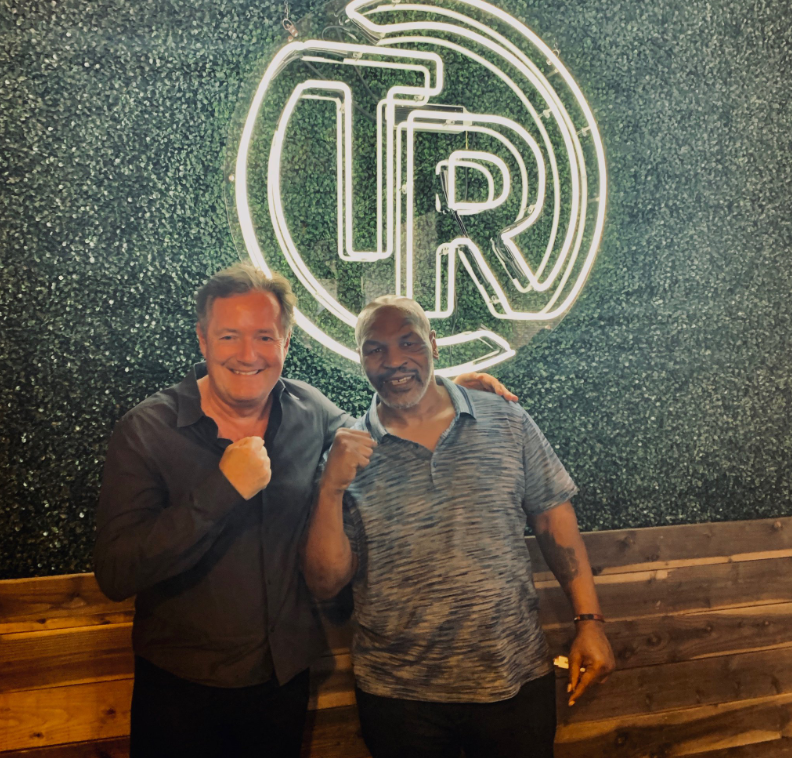 Piers Morgan smoked a joint on Mike Tyson's podcast. Credit: Twitter/Piers Morgan