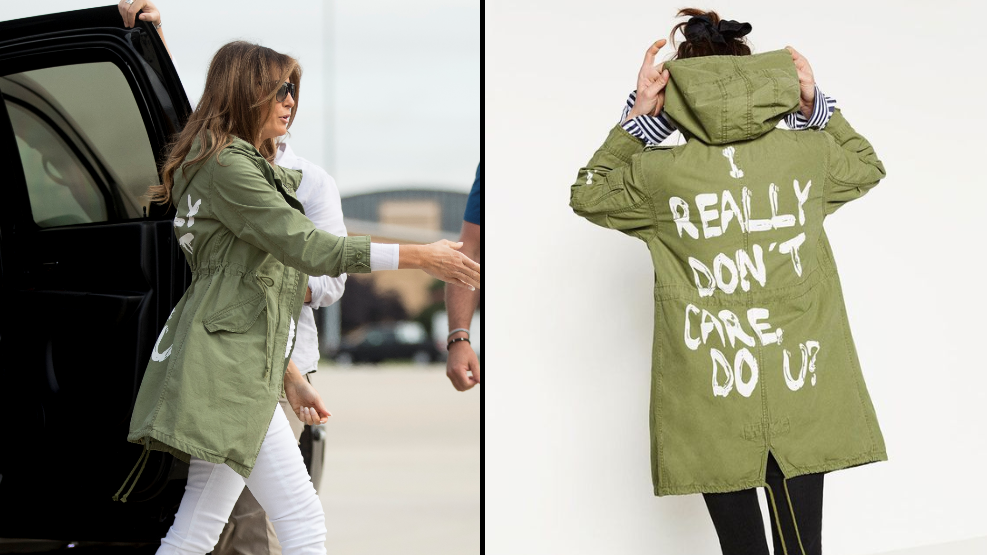 Melania Trump Sets Off To Visit Detained Children Wearing A Coat With 'I REALLY DON'T CARE, DO U?' On It
