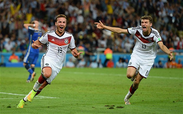 Gotze wins the 2014 World Cup for Germany. Image PA Images