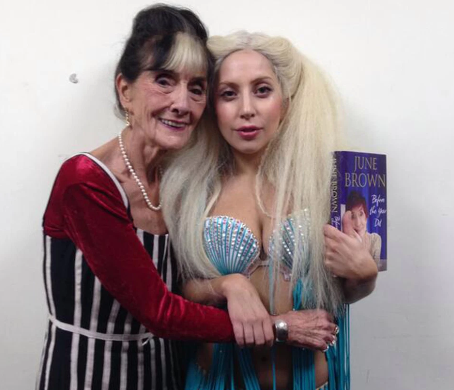 June unfortunately declined the invite to go out on the tiles with Gaga. Credit: Twitter
