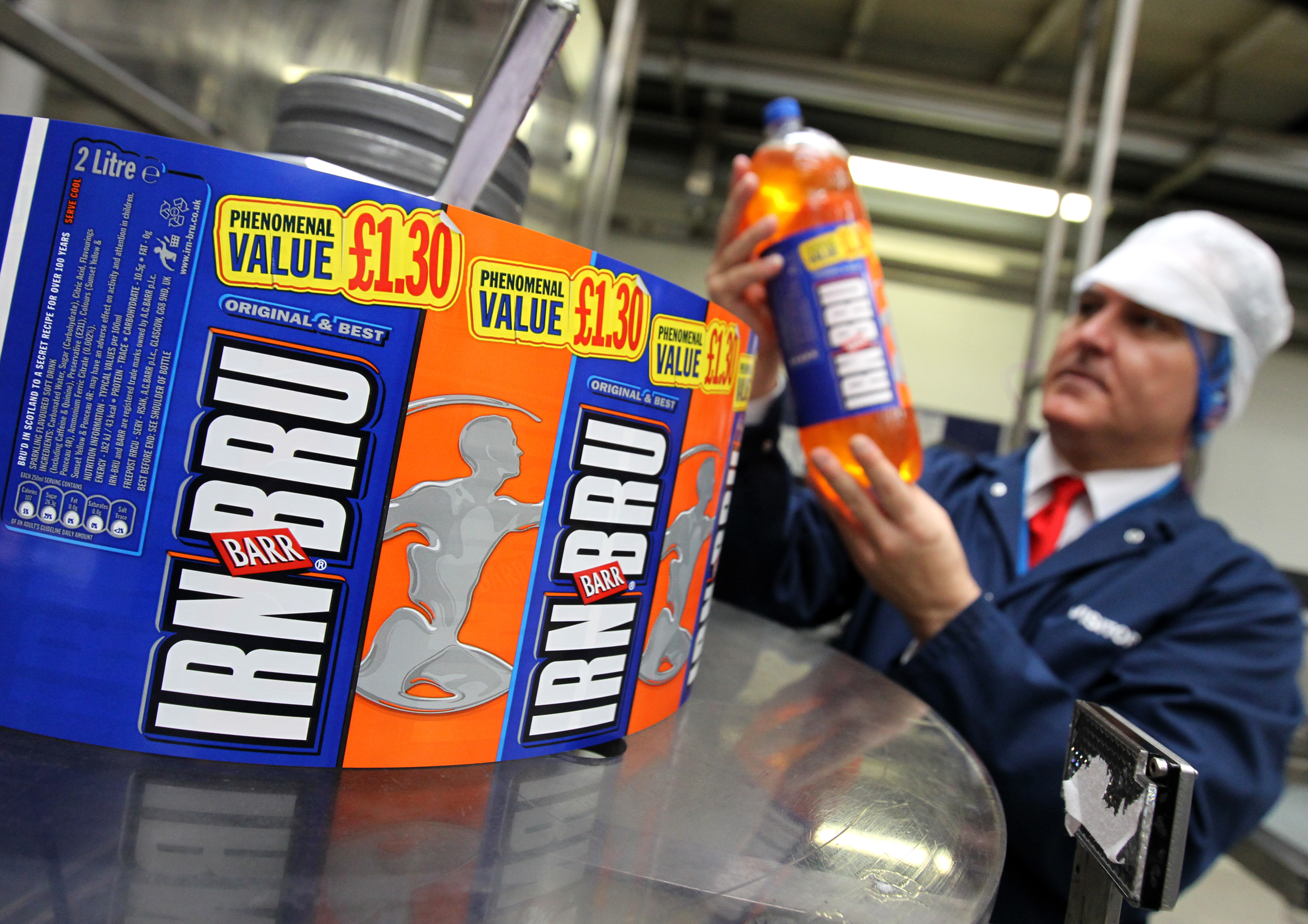 Irn-Bru fans 'won't notice low-sugar taste'