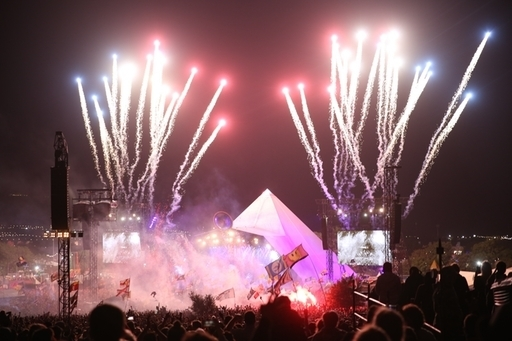 The Killers closed their Glastonbury set with 'Mr Brightside'. Credit: PA