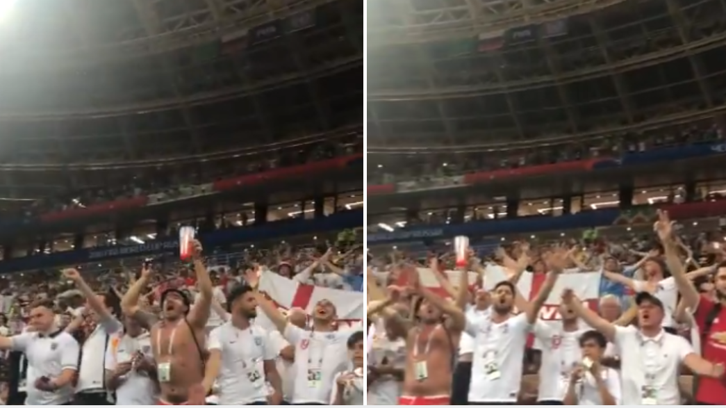 England Fans Stay Behind And Belt Out 'Don't Look Back In Anger' After World Cup Exit