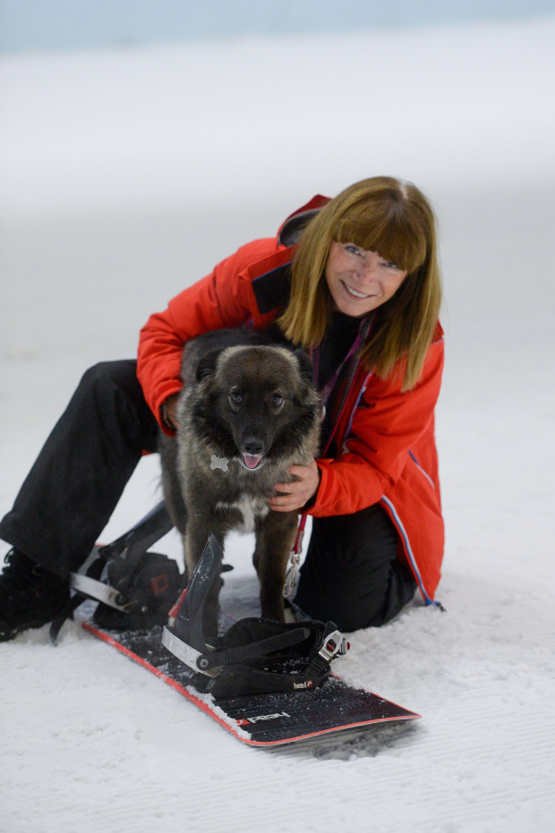 Chill Factore CEO Morwenna Angove  with her dog. Credit: Chill Factore