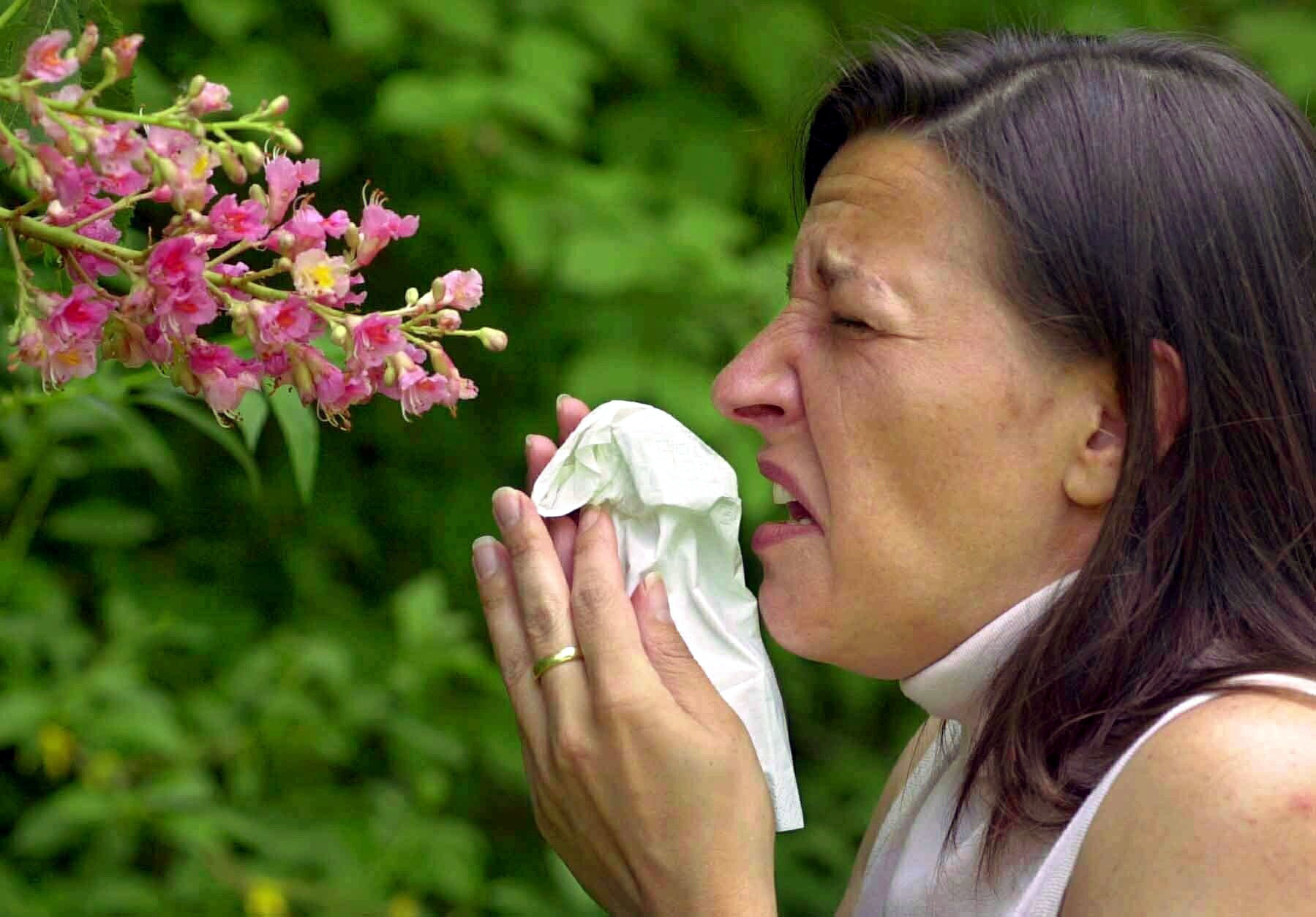 Hay fever season us almost upon us. Credit: PA