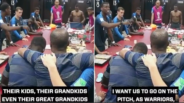 Paul Pogba's Rousing Pre World Cup Final Speech Is Brilliant