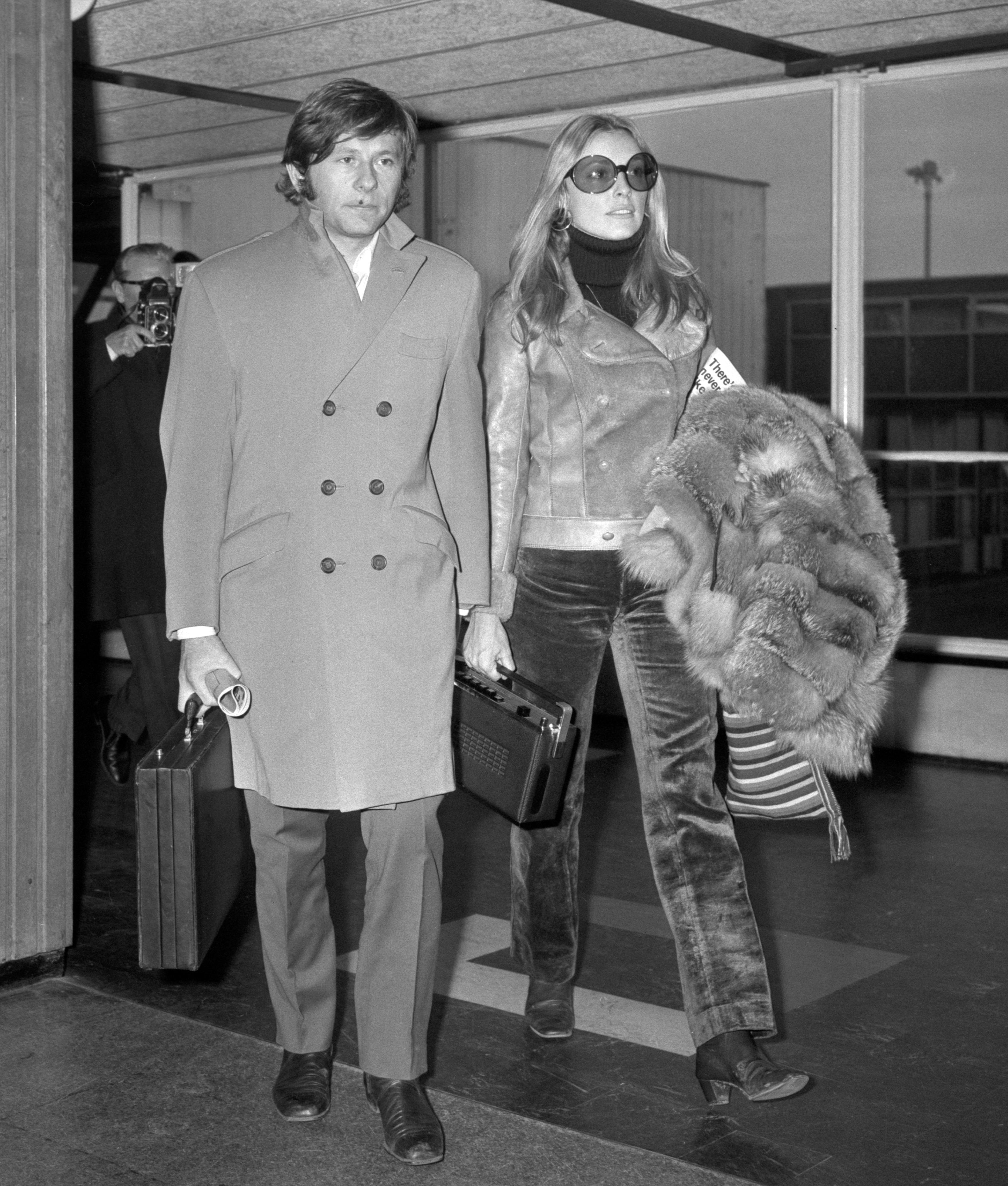 Sharon and her husband Roman Polanski before her brutal murder. Credit: PA Images
