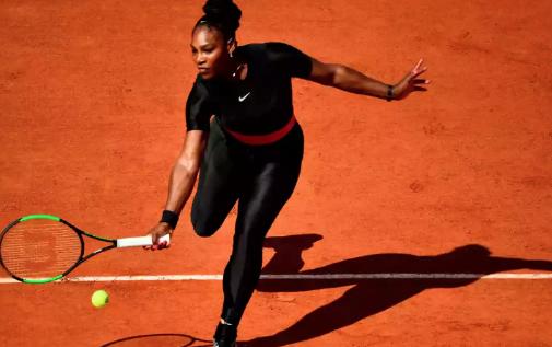 Serena in black catsuit. Credit: AP