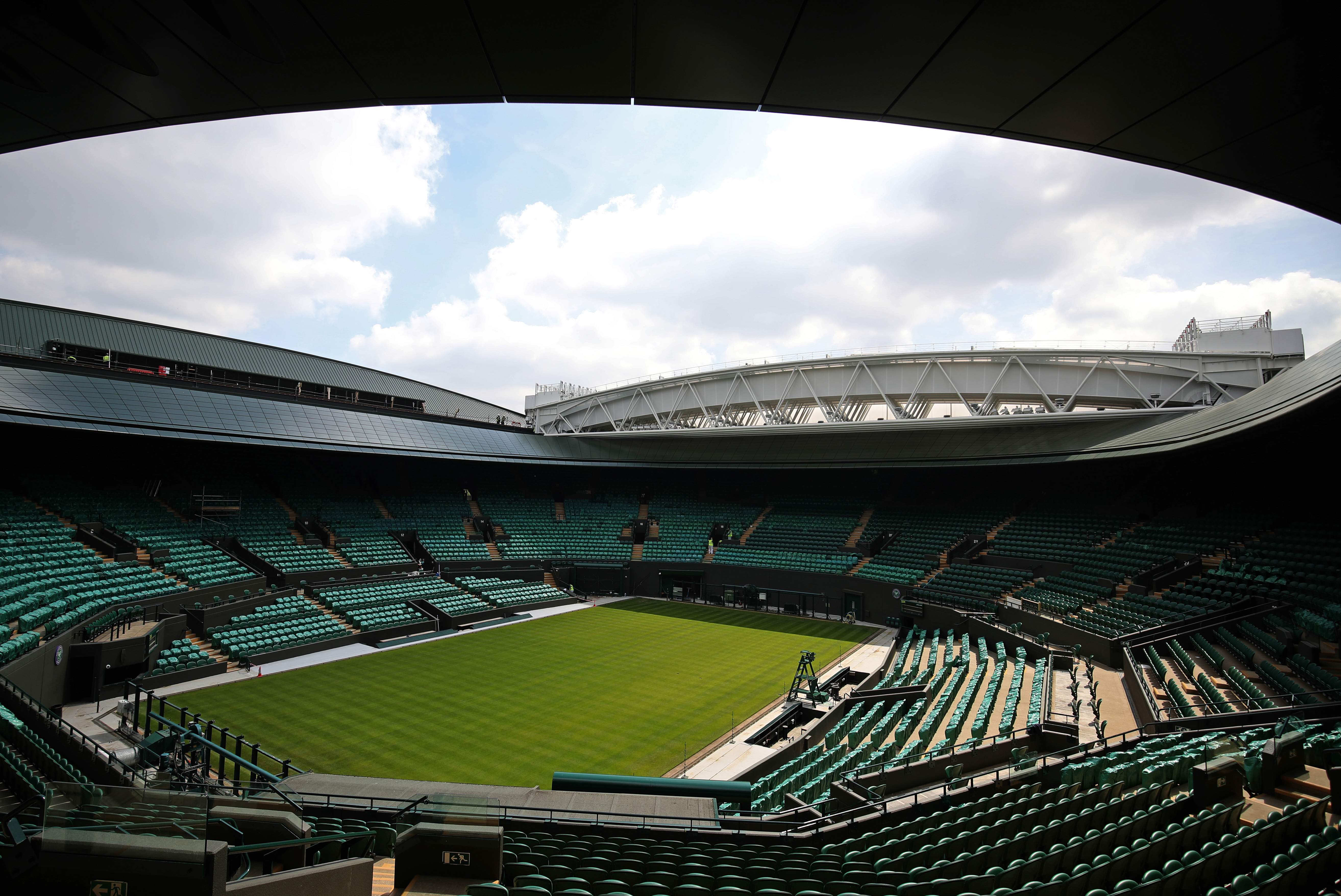 Court One with its new roof. Image: PA Images