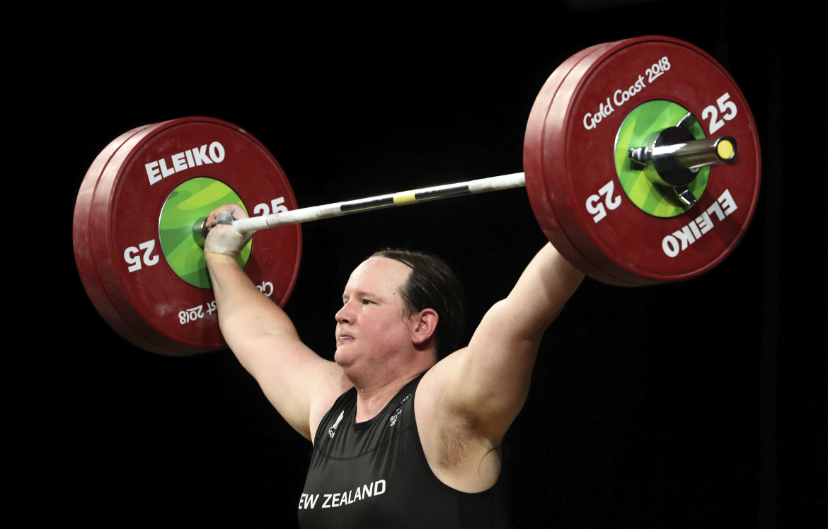 Transgender weightlifter says injury may be career-ending