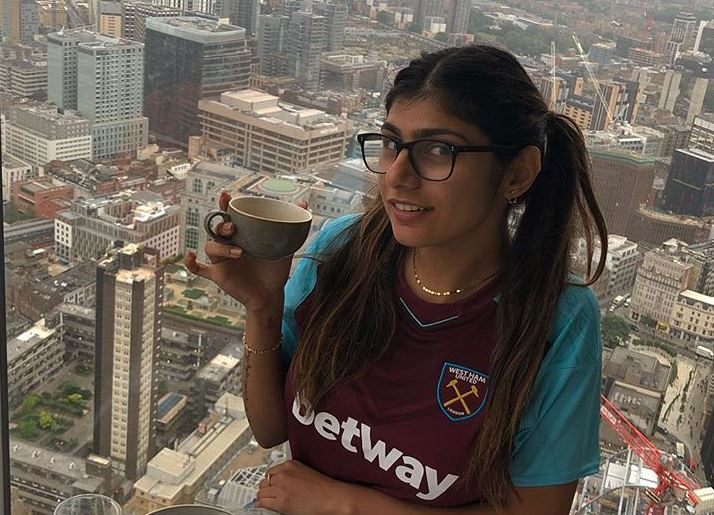 Who knew Mia was a West Ham fan? Credit: Instagram