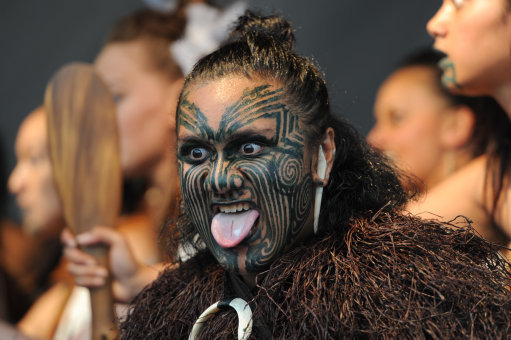 Maori tattoos are often seen on the face. Credit: PA