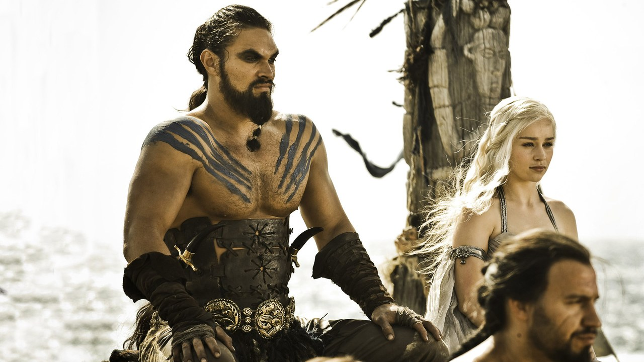 Khal Drogo and his Khaleesi. Credit: HBO