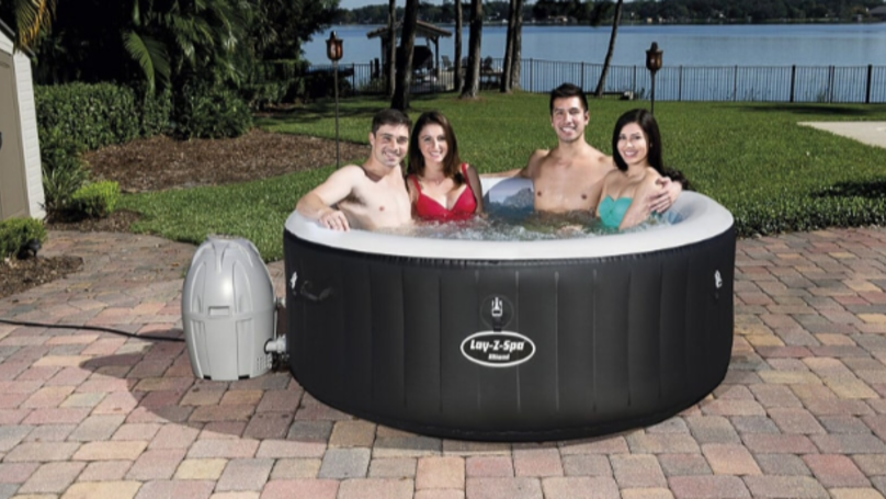 The hot-tub fits up to four people. Credit: B&M