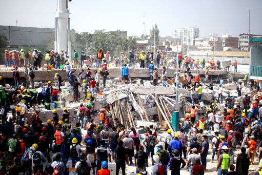 Thousands homeless after Mexico earthquake