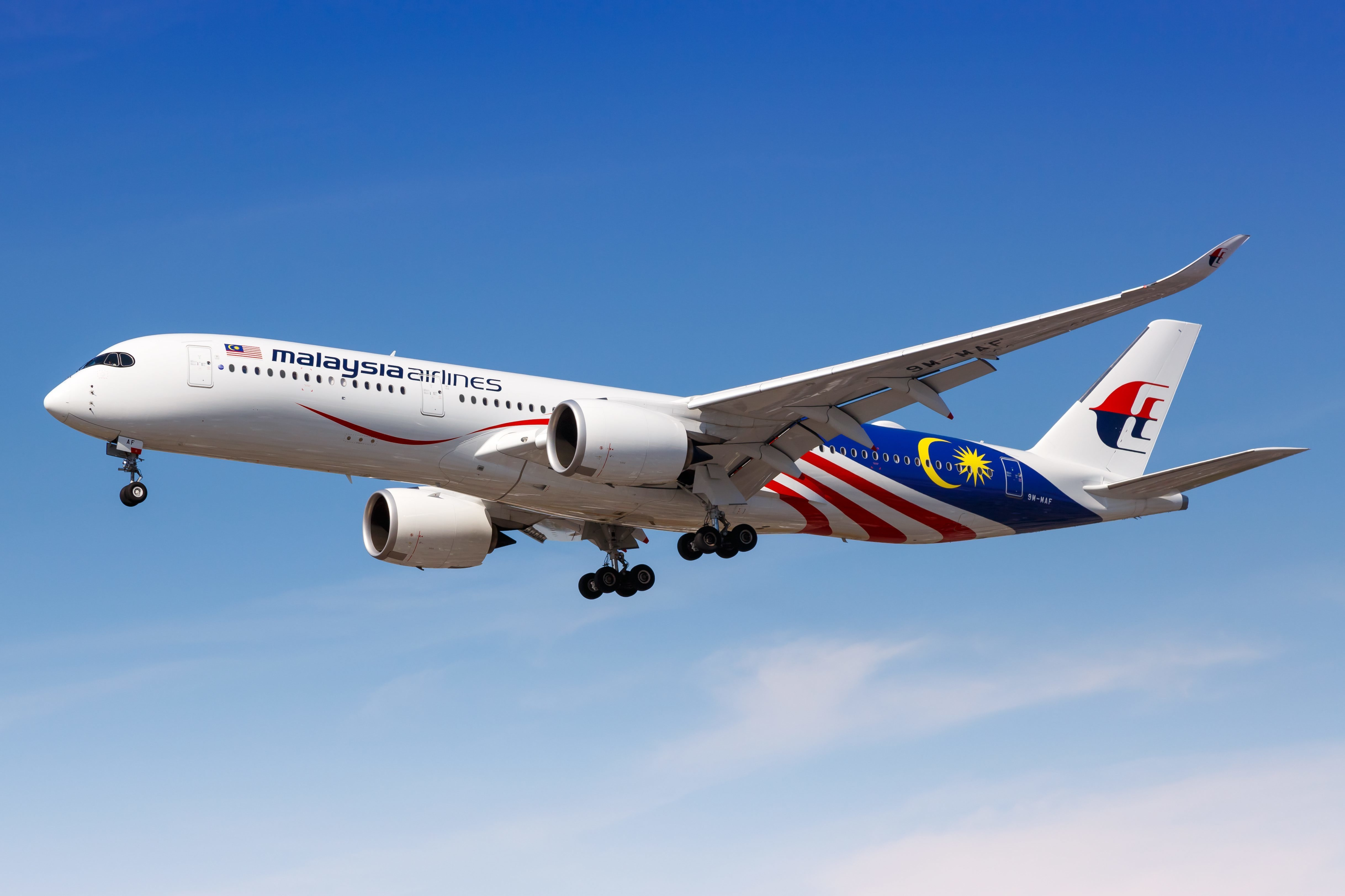 A Malaysia Airlines plane similar to MH370. Credit: PA