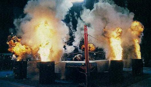An exploding barbed wire match anyone? Image: FMW Wrestling