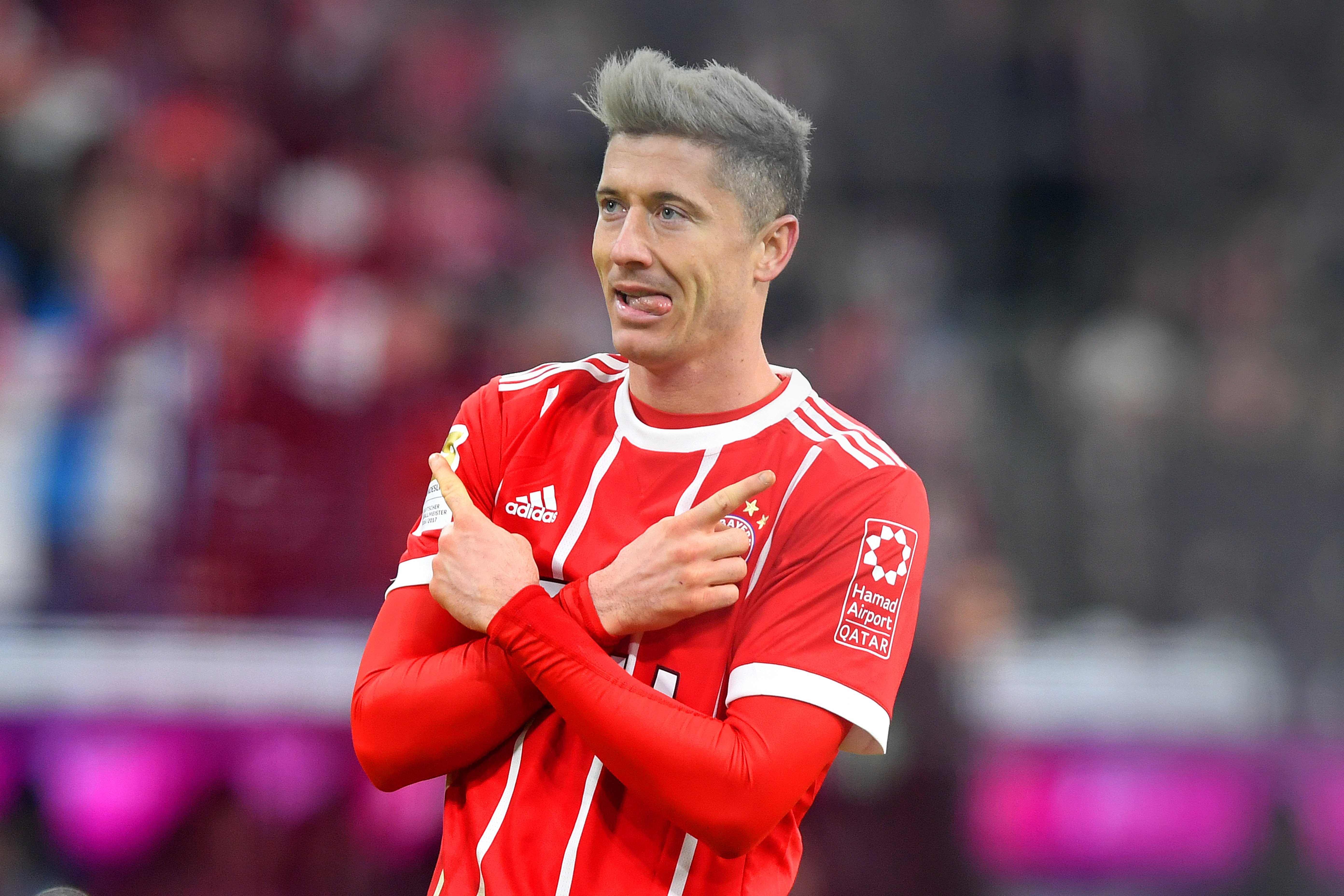 Lewandowski recently got his hair ready for the move. Image: PA