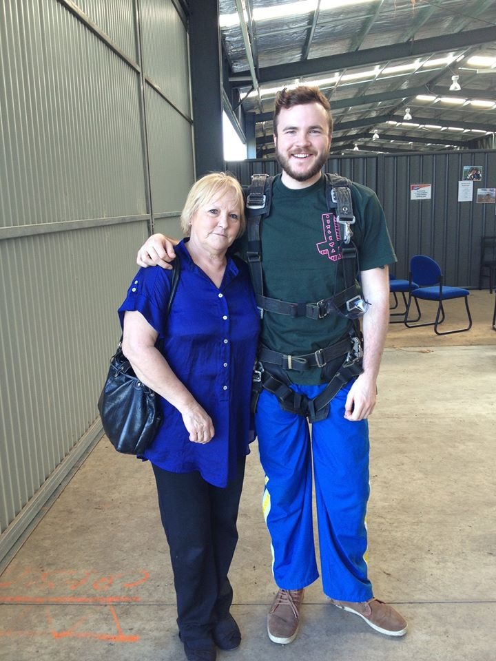 Brad and his mum