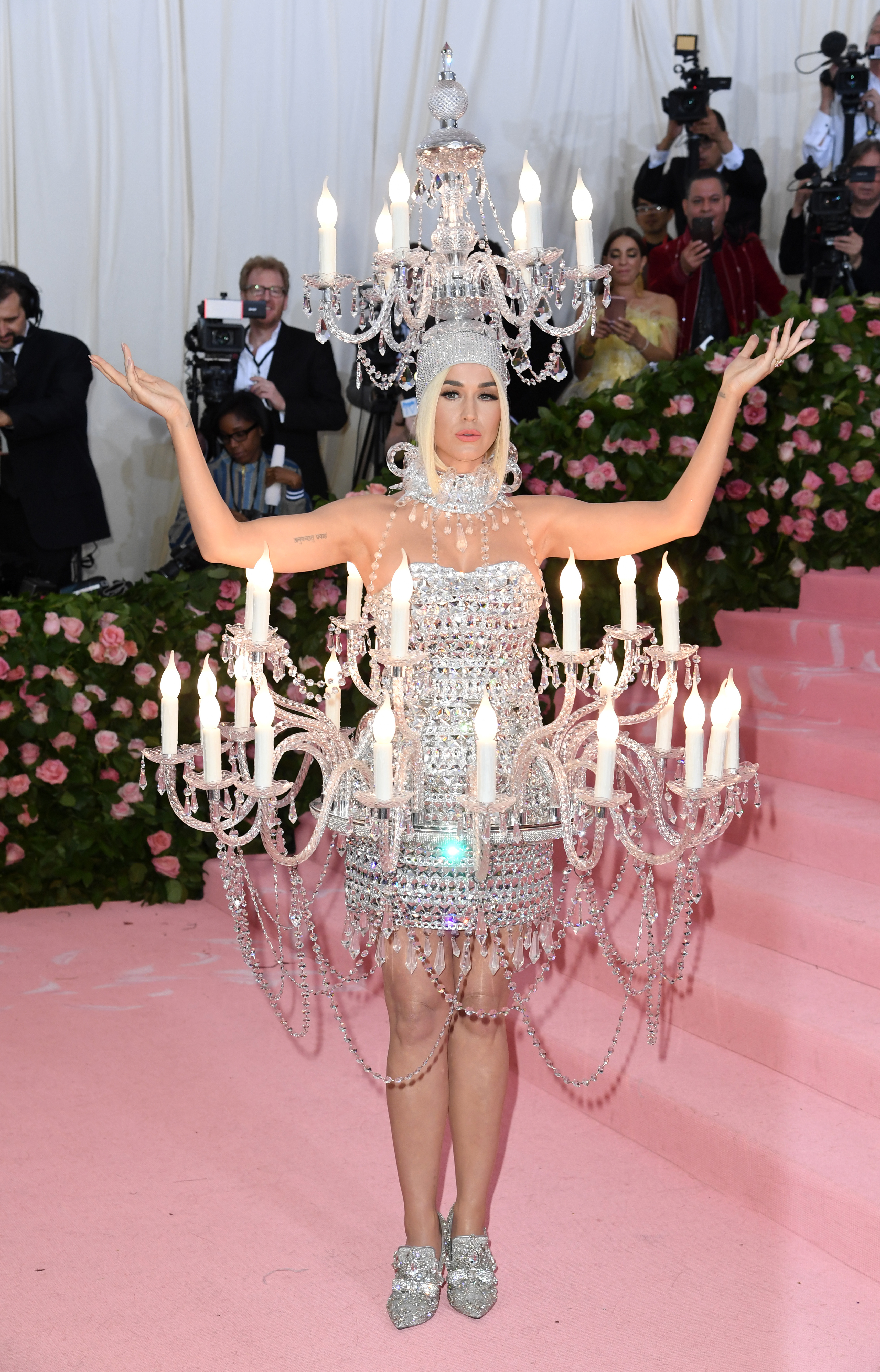 Katy Perry turned up as a light fixture. Credit: PA