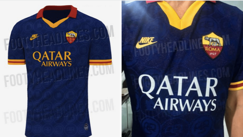 sports shoes 55386 f60b6 Roma's Leaked Third Kit Is One Of The Most Beautiful Retro ...