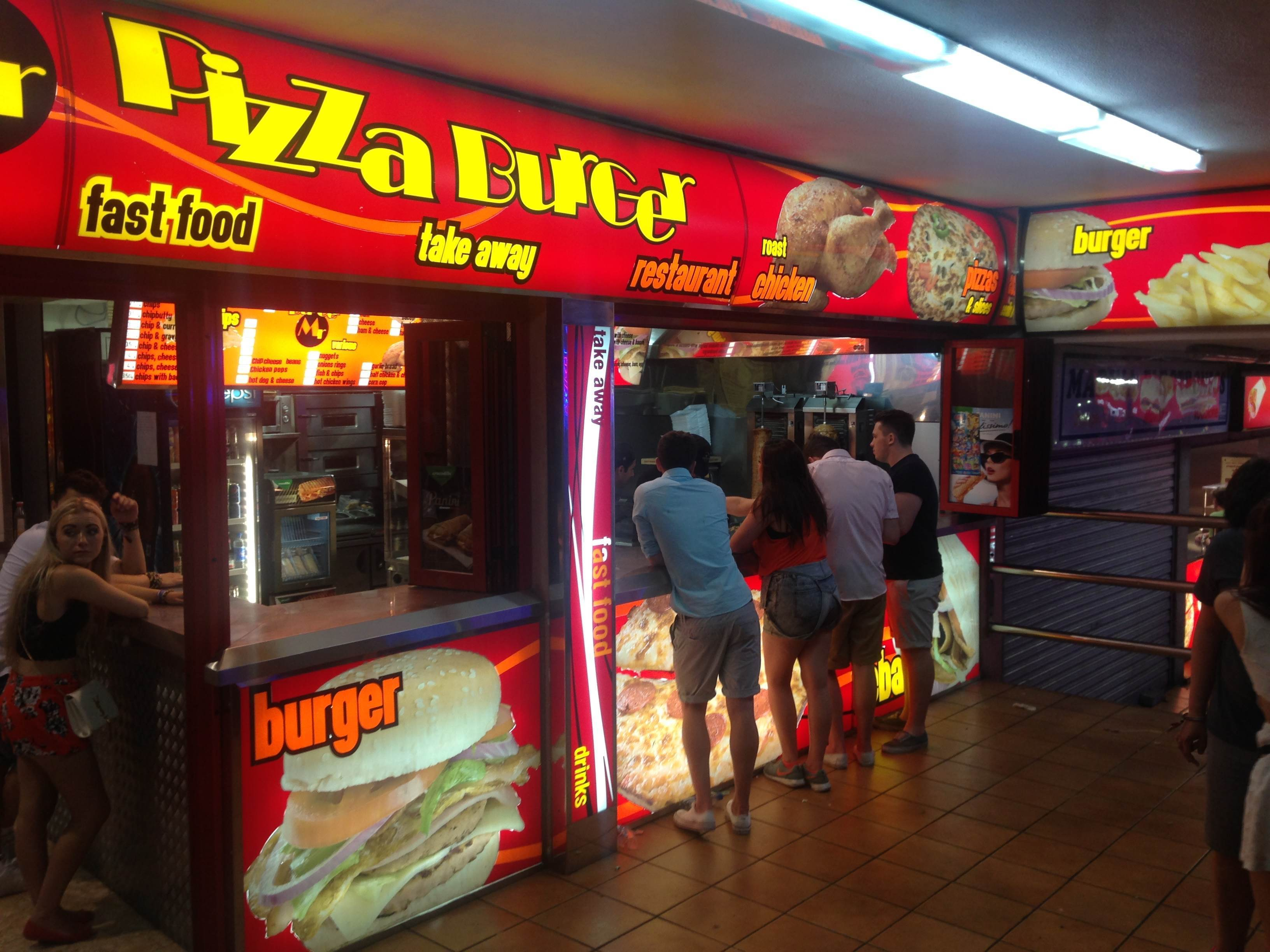 Pizza Burger in Magaluf