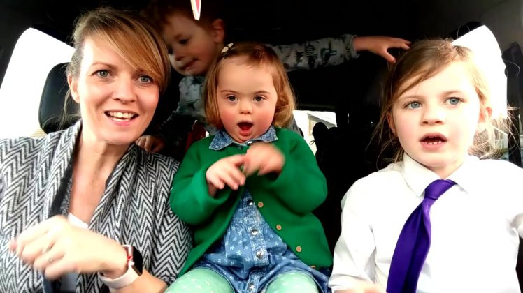 Internet falls in love with Carpool Karaoke with Down syndrome kids