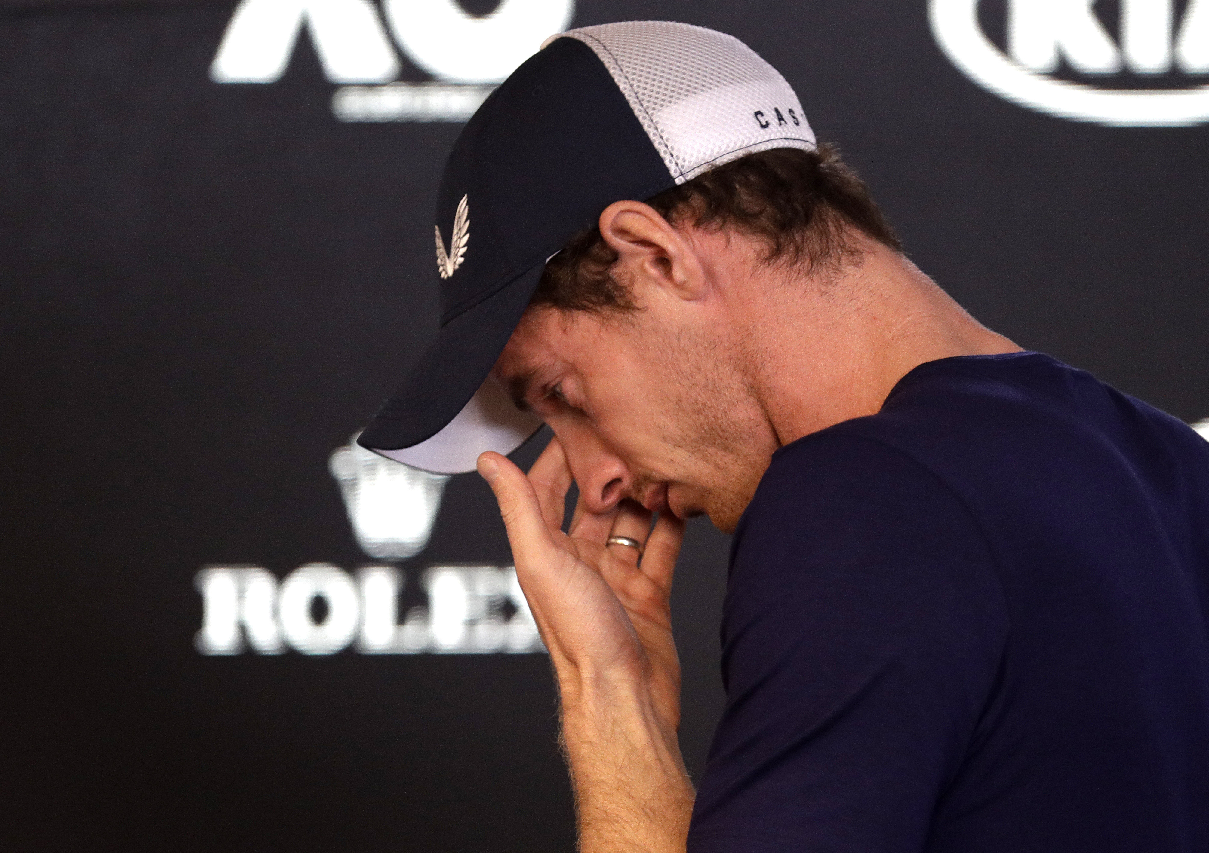 Murray says he can't endure the pain anymore. Credit: PA