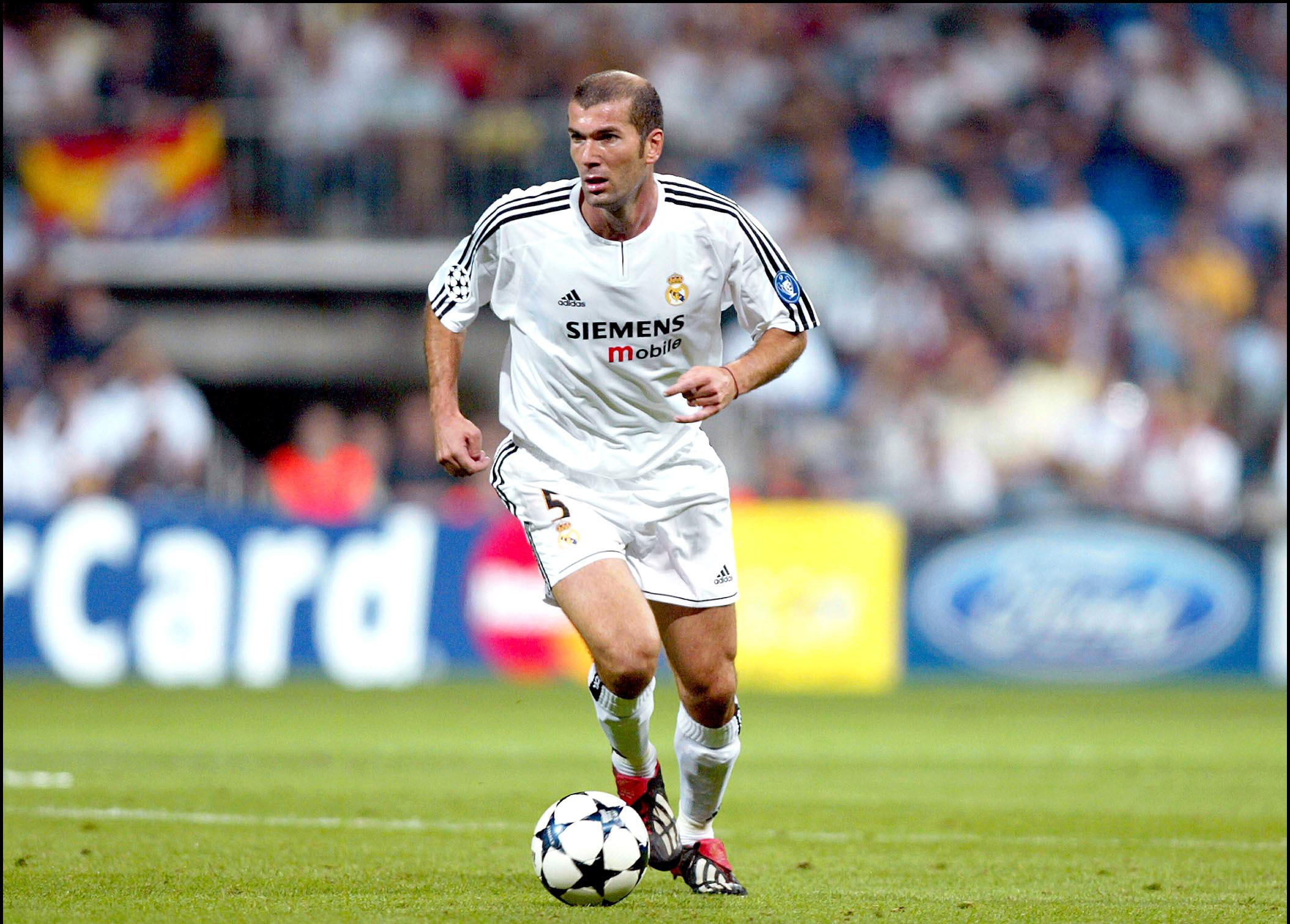 Zidane in action for Real Madrid. Image PA